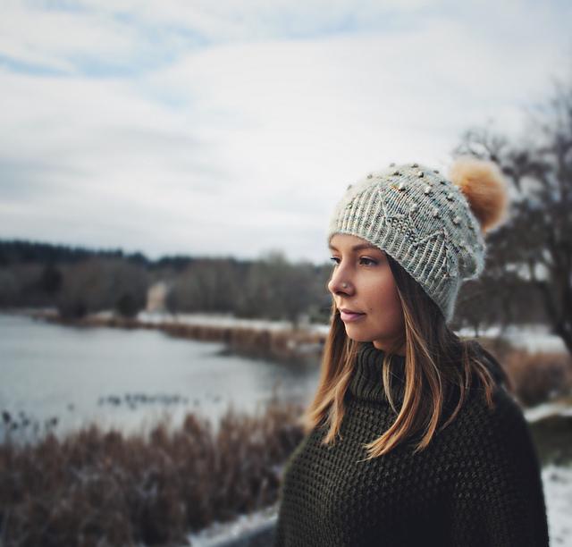 tuque tricotée mérinos et mohair Kobuk par Caitlin Hunter