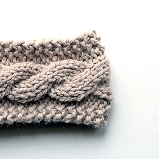 Knitted Cable Headband Pattern Free : Ravelry: Cable Knit Headband pattern by Brome Fields