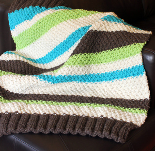 Ravelry: Easy Striped Baby Blanket pattern by Shannon Brown