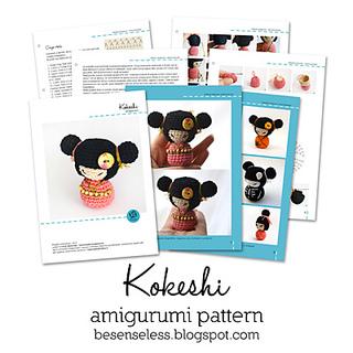 Amigurumi Free Pattern For Beginners : Ravelry: Kokeshi amigurumi pattern by Ilaria Caliri (aka ...