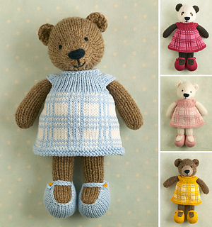 Knitting Pattern Small Animals : Ravelry: Girl Bear pattern by Julie Williams