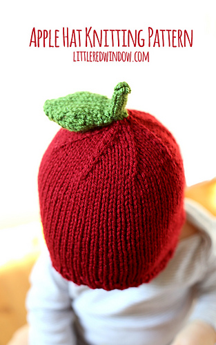 Knitted Apple Pattern : Ravelry: Adorable Apple Hat pattern by Cassandra May