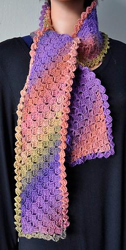 Crochet Scarf Patterns Medium Weight Yarn : Ravelry: Mini Mochi Diagonal Blocks Crocheted Scarf ...