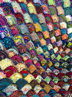 Ravelry Seashell Scrap Yarn Blanket Pattern By Charan Sachar