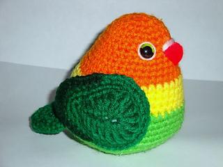 Amigurumi Crochet Animal Patterns : Ravelry: Fisher Love Bird pattern by Chiwaluv Amigurumi ...