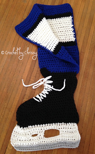 Crochet Hockey Afghan Pattern : Ravelry: Hockey Skate Blanket pattern by Crochet by Chrissy