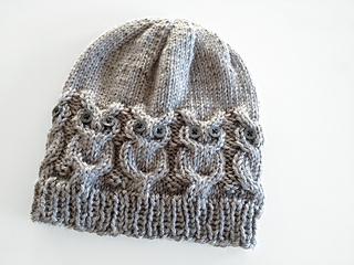 Knitted Owl Hat Pattern Free : Ravelry: Owl Hat pattern by Julie Grimmett