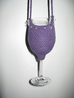 Free Pattern Crochet Wine Glass Holder : Ravelry: Wine Glass Holder pattern by Claudia Olson