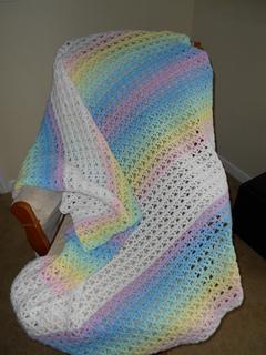 Ravelry Rainbow Baby Blanket Pattern By Lion Brand Yarn