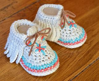 Ravelry: Baby Moccasin Shoes pattern by Caroline Brooke