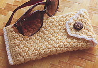 Free Crochet Pattern Eyeglass Case : Ravelry: Basketweave Eyeglass Case pattern by Susan Lowman