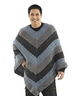 Mens Hooded Poncho Knitting Pattern : Ravelry: Mitered Unisex Poncho: Crochet pattern by Lion ...