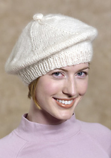Free Knitting Patterns Berets Easy : Ravelry: Beret #kim-beret pattern by Lion Brand Yarn