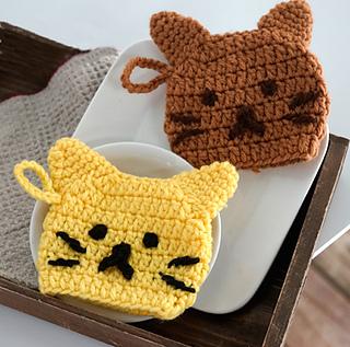 Pierrot Yarn Free Crochet Patterns : Ravelry: Cat Tawashi pattern by Pierrot (Gosyo Co., Ltd)