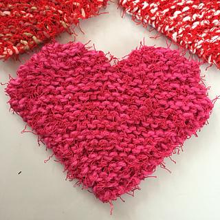 Ravelry: Valentine Heart Scrubbies pattern by Darcie Laack