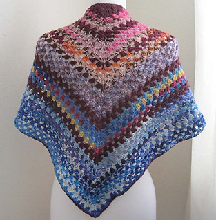 Crochet A Shawl Easy Pattern : Ravelry: Easy-Crochet Shawl pattern by Kathy North