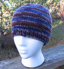 Knit_hat_for_anyone_mountain_wood_print_front_view_small