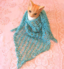 Hole-y_triangle_scarf_aqua_on_cat_small
