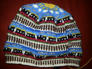 Ravelry: Train fair isle beanie pattern by Sandra Jager