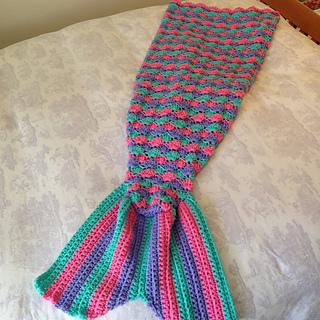 Easy Crochet Pattern For Mermaid Blanket : Ravelry: Mermaid Tail Couch Blanket pattern by Angie Hartley