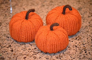 Knit Pumpkin pattern by Katrina McNerney