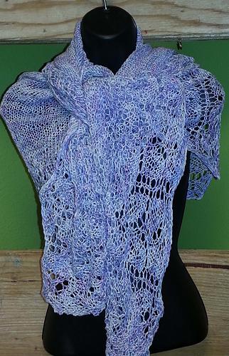Elm Leaf Knitting Pattern : Ravelry: Elm Leaf Shawl pattern by Velvet Dishon
