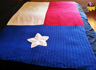 Ravelry Texas Flag Blanket Pattern By Donna Knox