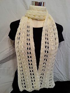 Ravelry: Loom Knit Light and Lacey Loom Scarf pattern by ...