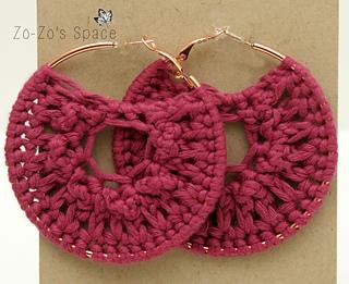 Ravelry: Quick Crochet Hoop Earrings pattern by Erica K.