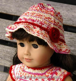 Ravelry: American Girl Doll Carolina Summer Hat pattern by Elaine Phillips