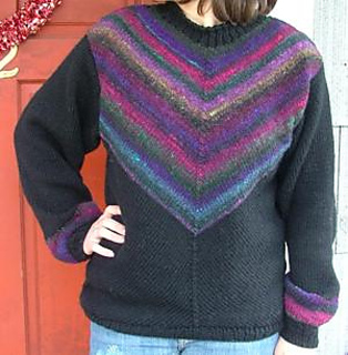 Free Knitting Patterns Noro Yarn : Ravelry: Diagonal Knit Noro Yarn Sweater pattern by Elaine Phillips