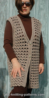 Free Crochet Pattern Mens Vest : Ravelry: Scallop Shell Vest pattern by Elaine Phillips