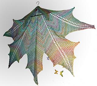 Maple Leaf Knitting Pattern : Ravelry: Maple Leaf Crochet Shawl pattern by Natalia @ Elfmoda