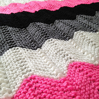 Knit Ripple Afghan Pattern : Ravelry: Knitted Chevron (Ripple) Afghan pattern by Laura Mosier