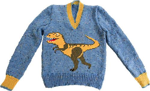 S_t_rex_on_blue_jumper_medium