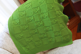 Ravelry: Leafy Baby Blanket pattern by Erica Kempf Broughton