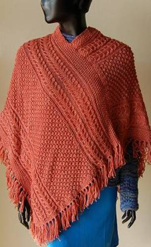 Irish Knitting Patterns Free : Ravelry: Irish Knit Poncho pattern by Adele Huey McCall