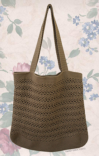 Free Crochet Patterns For Grocery Bags : Ravelry: Lacy V Shopping Bag pattern by Cathy Phillips