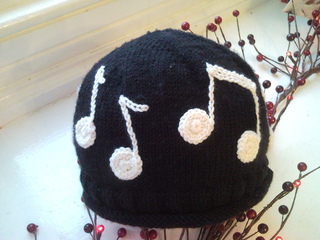 Free Crochet Patterns For Music Notes : Ravelry: Musical Note Hat pattern by Fiona Kelly