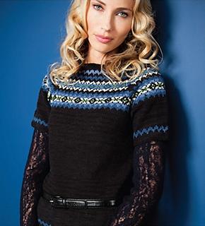 Fiona Ellis Knitting Patterns : Ravelry: #06 Fair Isle Yoke Top pattern by Fiona Ellis