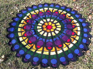 Ravelry Cathedral Rose Window Afghan Pattern By Julene Watson