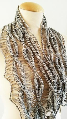 Drop Leaf Knitting Pattern : Ravelry: Linen Scarf Cable Drop Leaf pattern by Jen Giezen