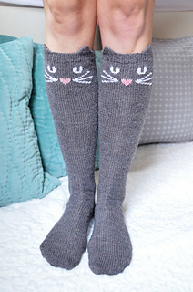Knitting Pattern For Cat Socks : Ravelry: