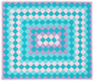 Crochet Patterns Rectangle : Ravelry: Around the World Rectangle Baby Afghan pattern by ...