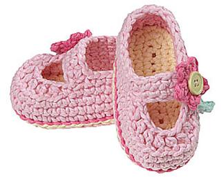 Gourmet Crochet Amigurumi Dinosaurs : Ravelry: Flower-Trimmed Shoes pattern by Carolyn Christmas