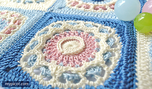 Free Crochet Pattern Octagon Motif : Ravelry: 4037 Square Crochet Motif pattern by MYpicot