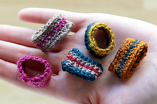 Free Crochet Ring Jewelry Patterns : Ravelry: Crochet Rings pattern by Heidi Gustad
