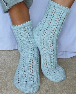 Knitting Tube Socks Free Pattern : Ravelry: Rainy Day Socks pattern by Yuliya Sullivan