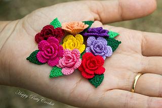 Ravelry: Mini Rose pattern by Happy Patty Crochet