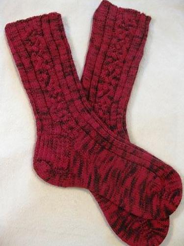 Celtic Braid Socks #157 PDF